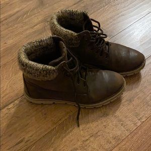 White Mountain lace up booties